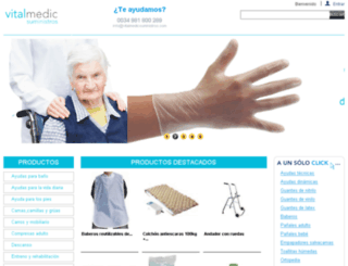 vitalmedicsuministros.com screenshot