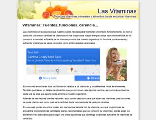 vitaminas.org.es screenshot