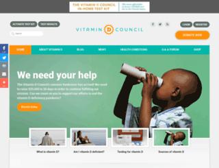 vitamindcouncil.org screenshot