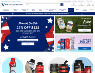 vitaminshoppe.com screenshot