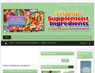 vitaminsupplementingredients.com screenshot