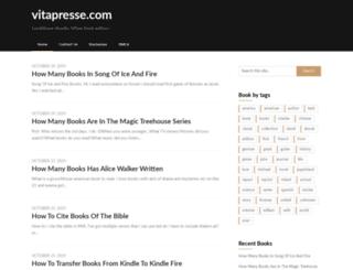 vitapresse.com screenshot