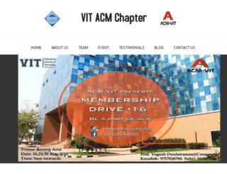 vitmumbai.acm.org screenshot