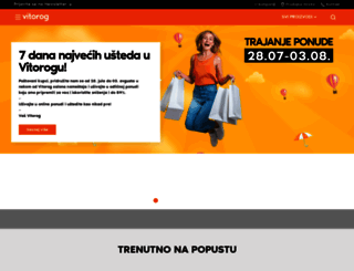 vitorogpromet.rs screenshot