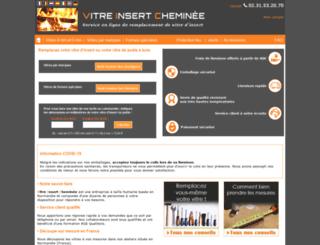 vitre-insert-cheminee.fr screenshot
