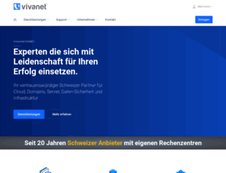 vivanet.ch screenshot