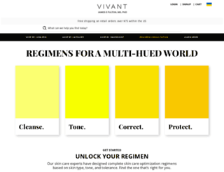 vivantskincare.com screenshot