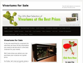 vivariums-for-sale.co.uk screenshot