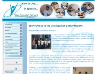 vivaspanishleon.com screenshot