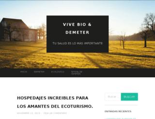 vivebiodemeter.com screenshot