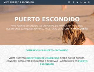 vivepuertoescondido.com screenshot