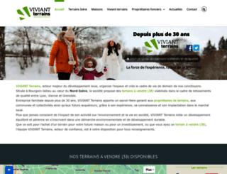 viviant-terrains.com screenshot