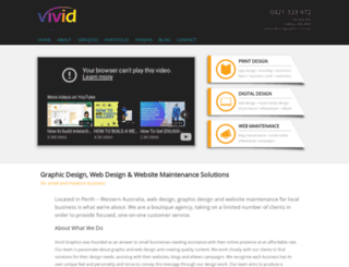 vividgraphics.com.au screenshot