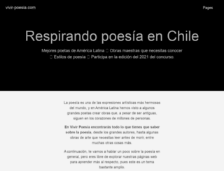vivir-poesia.com screenshot