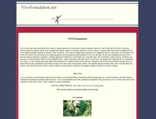 vivofoundation.net screenshot