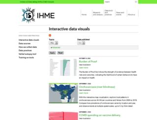 viz.healthmetricsandevaluation.org screenshot