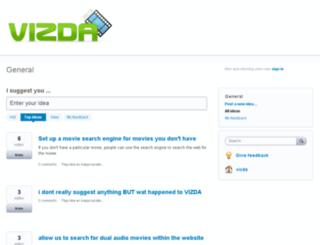 vizda.uservoice.com screenshot