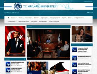 vizemyo.kirklareli.edu.tr screenshot