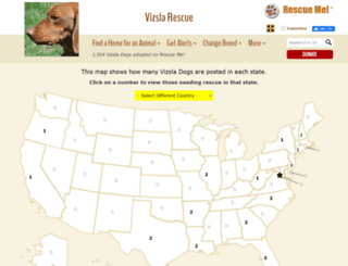 vizsla.rescueme.org screenshot