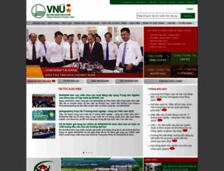 vkco.vnu.edu.vn screenshot