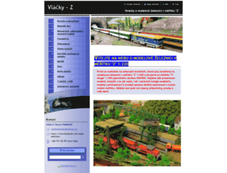 vlacky-z.webnode.cz screenshot