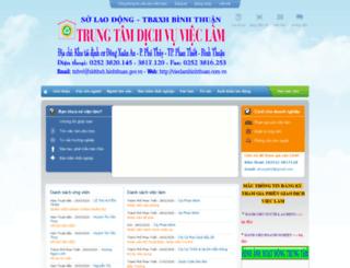 vlbinhthuan.vieclamvietnam.gov.vn screenshot