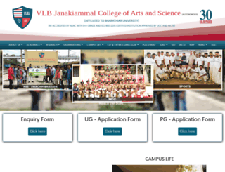 vlbjcas.ac.in screenshot