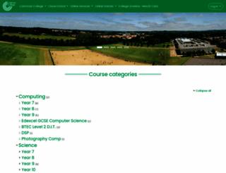vle.catmosecollege.com screenshot