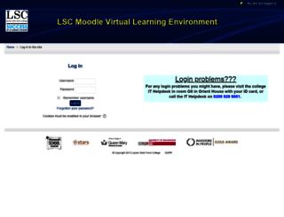 vle.leyton.ac.uk screenshot