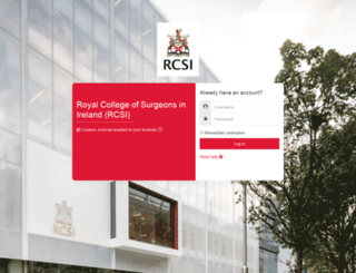 vle.rcsi.ie screenshot