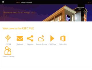 vle.rochdalesfc.ac.uk screenshot
