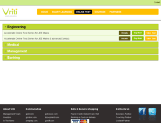 vlearnsmart.vriti.com screenshot