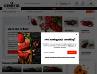 vleesch.nl screenshot