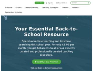 vli22.teachervision.com screenshot