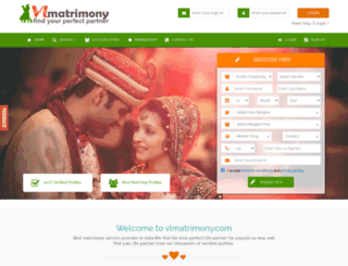 vlmatrimony.com screenshot