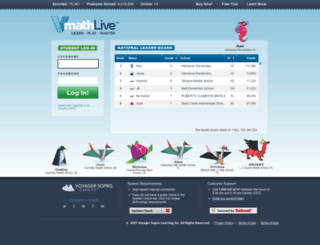 vmathlive.com screenshot