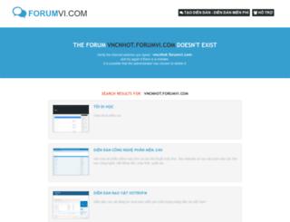vncnhot.forumvi.com screenshot