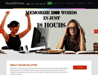 vocabsolution.com screenshot