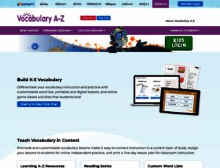 vocabularya-z.com screenshot