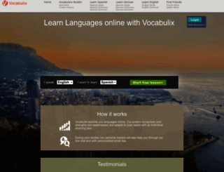vocabulix.com screenshot