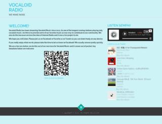 vocaloidradio.com screenshot