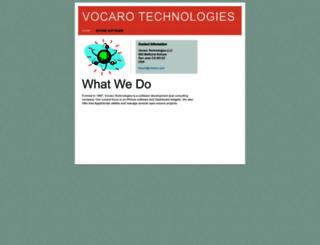 vocaro.com screenshot