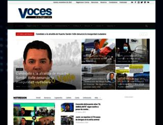 vocesdelaregionlima.com screenshot