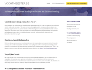 vochtmeester.be screenshot