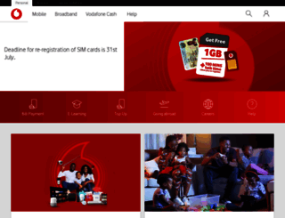 vodafone.com.gh screenshot