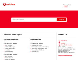 vodafoneghana.desk.com screenshot