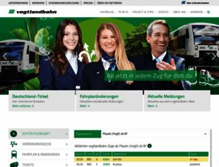 vogtlandbahn.de screenshot