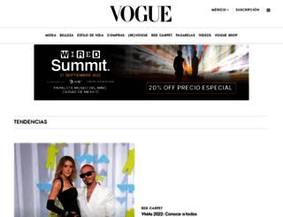 vogue.com.mx screenshot