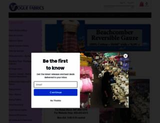 voguefabricsstore.com screenshot