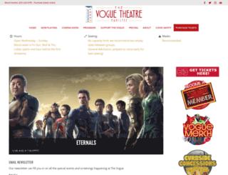 voguetheatremanistee.org screenshot